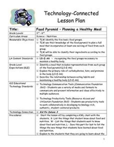 food pyramid planning  healthy meal   grade
