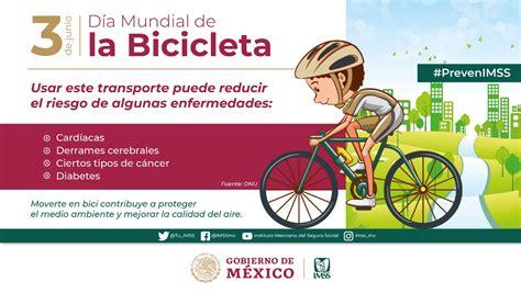 Aquí algunos en el día mundial de la bicicleta. Día Mundial de la Bicicleta | Instituto Mexicano del Seguro Social | Gobierno | gob.mx