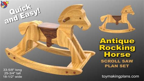 wood toy plans heirloom rocking horse youtube