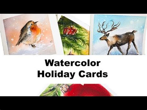 youtube watercolor christmas cards tutorials watercolors easy cards ii painting tutorial
