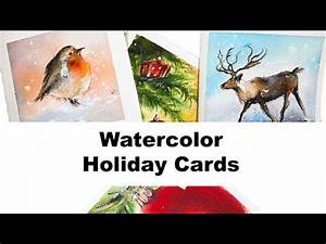 Watercolors Easy Holiday Cards II Painting Tutorial