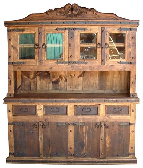 Rustic Kitchen Hutch  Rustic  China Cabinets And Hutches