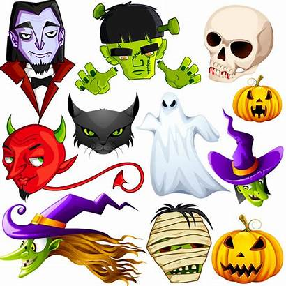 Vector Halloween Monsters Scary Graphics Character Clipart