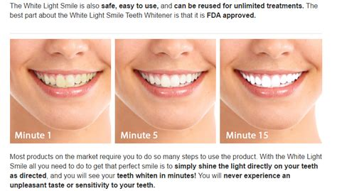 teeth whitening led light side effects white light smile brings real smile on your beautiful