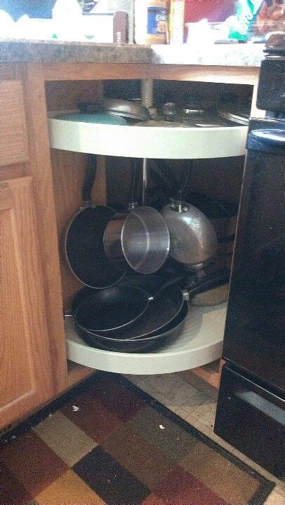 adjust  lazy susan  pot rack  corner cabinet  hang hooks  underside  shelf