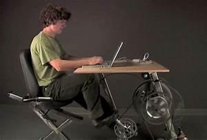 Big Rig Pedal Powered Desk