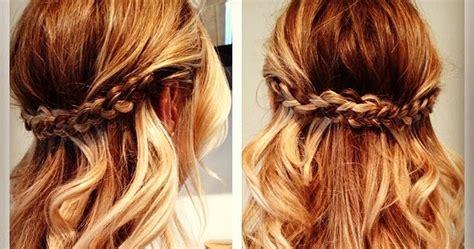 peinados de novia: peinados faciles con dos trenzas