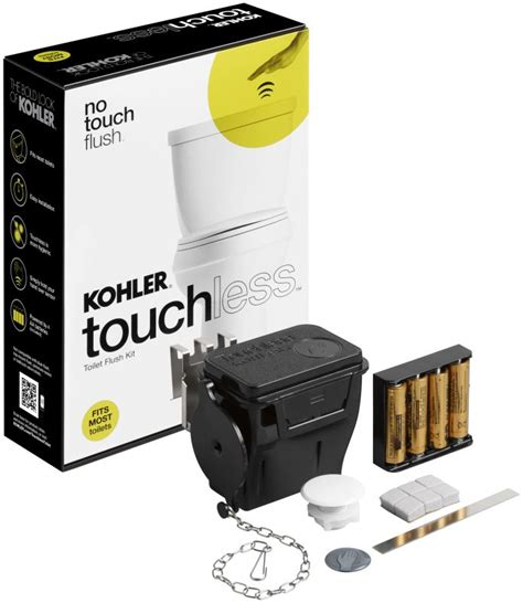 Kitchen Faucet Touchless Delta by Kohler K 1954 0 White Touchless Flush Toilet Retrofit Kit