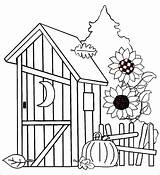 Outhouse sketch template
