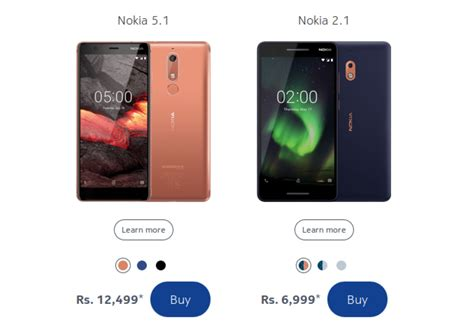 nokia 5 1 and nokia 2 1 india prices spotted here s what