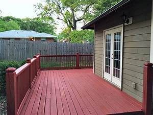 adding new deck stain to an existing deck With barn red deck paint