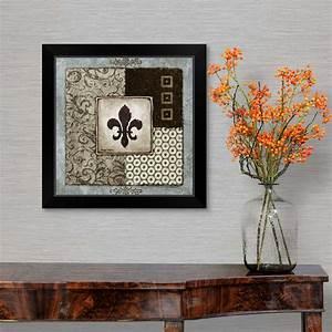 Fleur, De, Lis, I, Black, Framed, Wall, Art, Print, Home, Decor