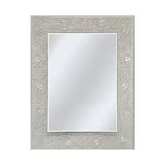 Mosaic Rectangular Bathroom Mirror by Allen Roth 24 In X 36 In White Marble Rectangle Framed