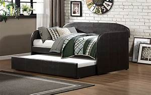 roland daybed with trundle dark brown bi cast vinyl With furniture mattress outlet of sanford