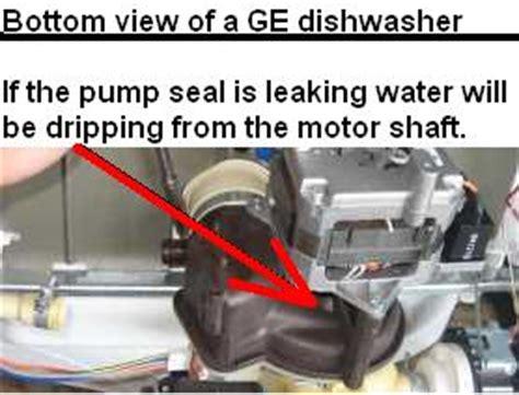 ge maker leaking water floor dishwasher leaking repair guide