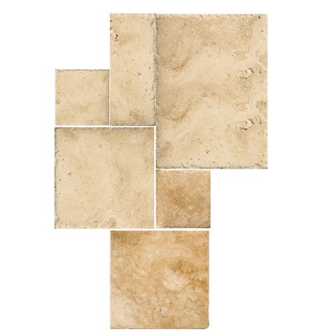 travertine tile at lowes shop emser 6 pack savera travertine floor and wall tile common 32 in x 32 in actual 33 95 in