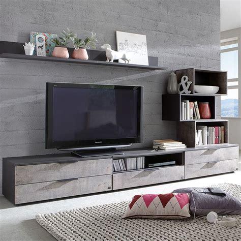 dicor chambr great banc tv anthracite et effet bton moderne betona