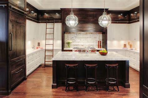 kitchen ladder  rails transitional kitchen