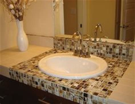 Tile Bathroom Countertop Ideas by Mosaic Ideas On Mosaic Tiles Recycled Glass