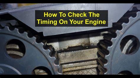 check  timing alignment check   car