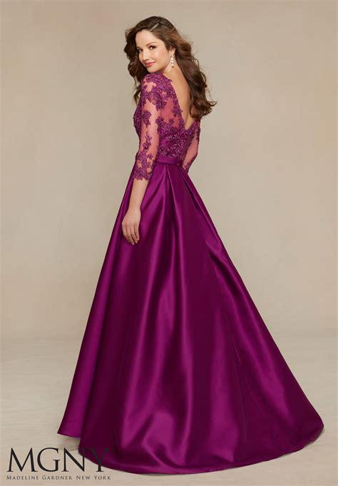 satin evening dress style  morilee
