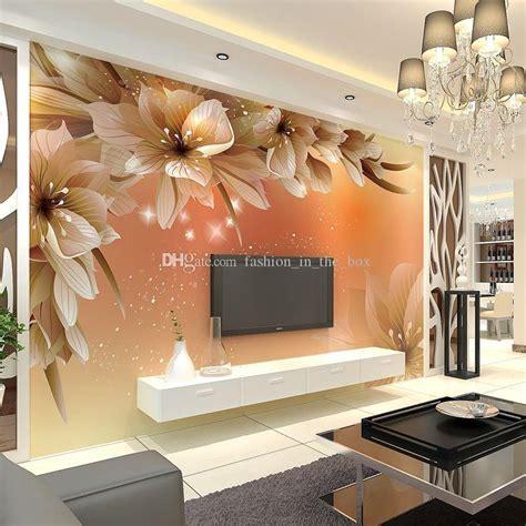 custom luxury wallpaper elegant flowers photo wallpaper