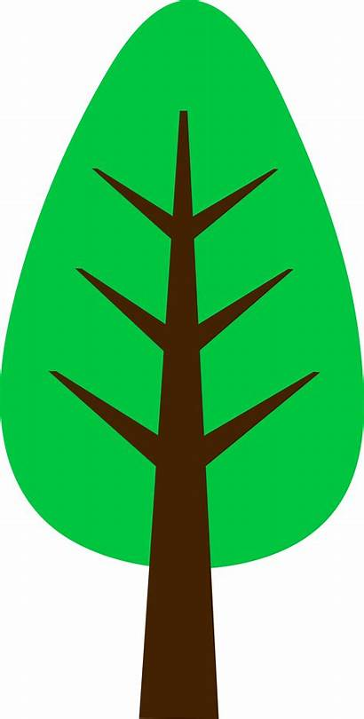 Tree Cartoon Simple Clip Clipart Cliparts Trees