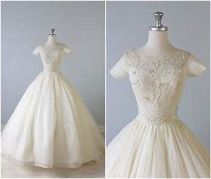 Reserved vintage 1950s wedding dress 50s bridal gown for Ballroom gown wedding dress