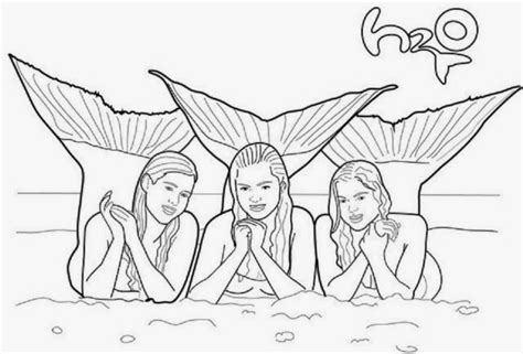 H2o Just Add Water Free Colouring Pages
