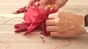 Papier De Soie Action : r aliser une pivoine en papier de soie youtube ~ Melissatoandfro.com Idées de Décoration