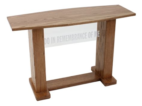 781 Acrylic And Wood Communion Table