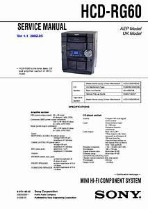 Sony Xav 60 Service Manual