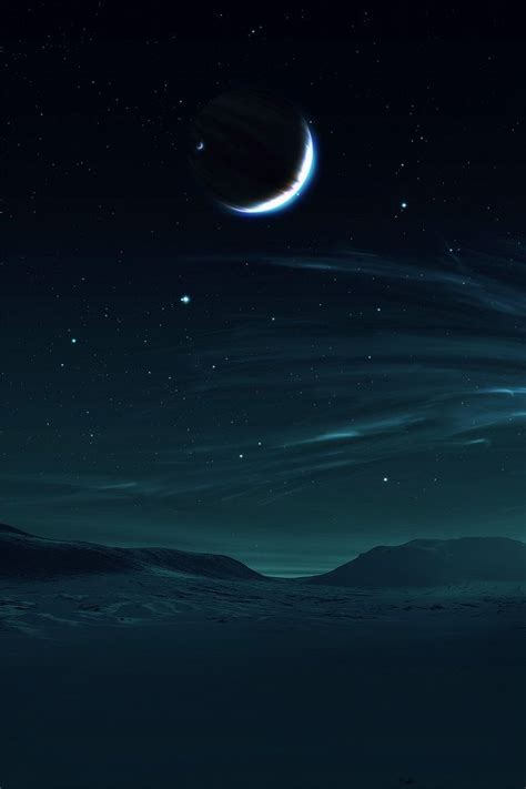 Black Wallpaper Iphone Moon by Hd Moon And Sea Iphone 4 Wallpapers Black