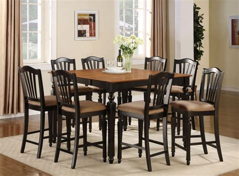 pc square counter height dining room table set  stool ebay