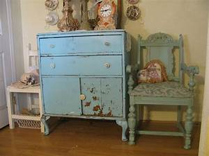 Shabby, Chic, Blue, And, Green