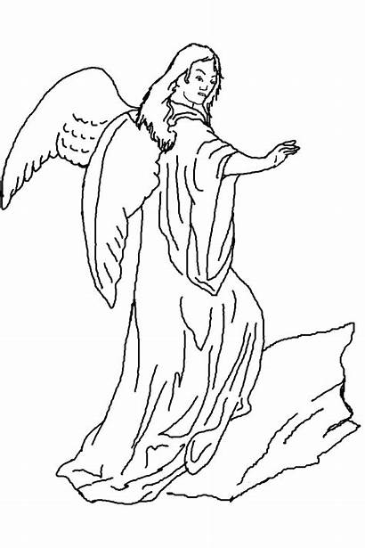 Line Angels Drawing Angel Drawings Coloring Pages