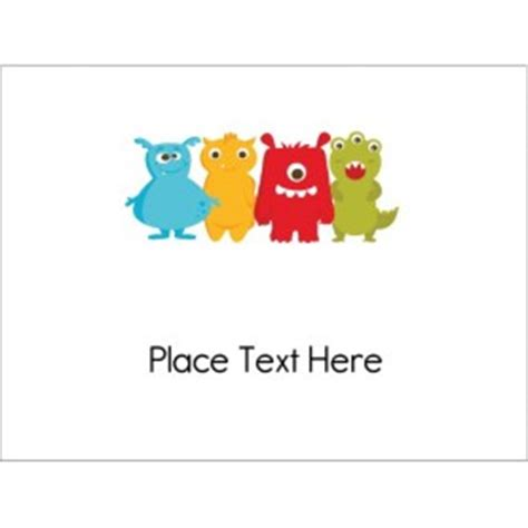 Avery 74541 Word Template Templates Monsters Name Badge Insert 6 Per Sheet