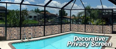 swimming pool privacy screen