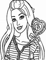 Barbie Face Drawing Coloring Clipartmag sketch template