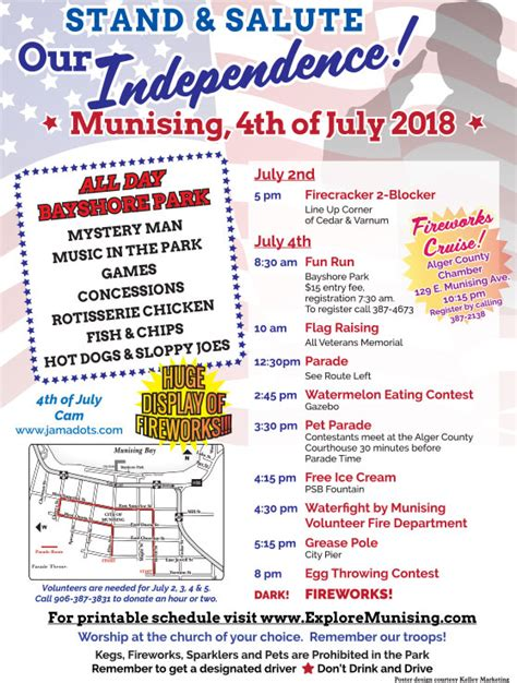 Free Pictured Rocks Boat Tour 2018 by Munising S 4th Of July 2018 Schedule Explore Munising
