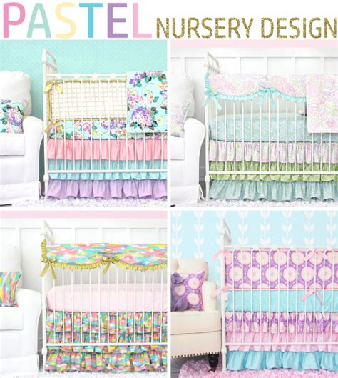 pastel colored bedding pastel nursery design with bright pastel baby bedding