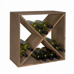 Casier à Bouteilles : casier bouteilles en bois empilable rangement cave ~ Teatrodelosmanantiales.com Idées de Décoration