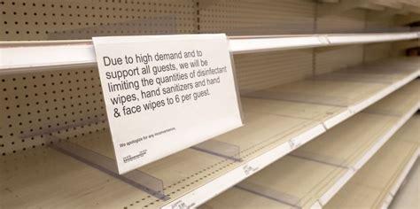 toilet paper hoarding sanitizer hand coronavirus empty sign shelves math much regarding