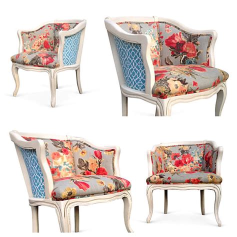 Upholstery Covering Chairs by Vintage Style Barrel Back Lounge Chairs Grey Pink