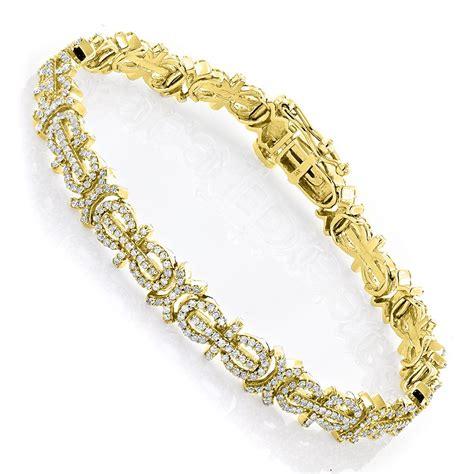 gold bracelet 14k 14k gold pave bracelet 2 27ct