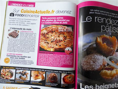cuisine gourmande magazine le magazine cuisine actuelle met à la une nos amies elise