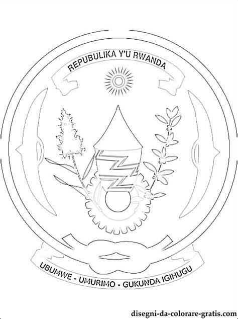 stemma del ruanda da colorare disegni da colorare gratis