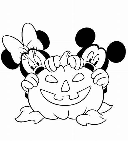 Halloween Dibujos Disney Colorear Imprimir Minnie Mickey