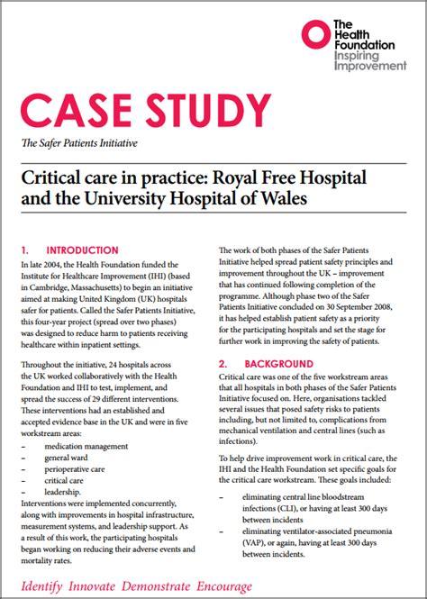 safer patients initiative case studies  health
