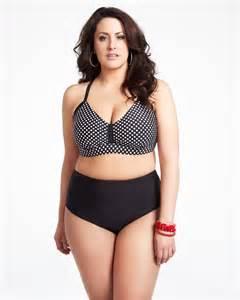 White Plus Size Women in Bikinis